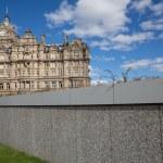 Wall and Balmoral hotel in Edinburgh, Scotland, United Kingdom — Stock Photo #53882257