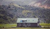 Refuge in the mountain, Landmannalaugar, Iceland — Stock Photo
