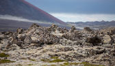 Detailed view of lava fields skyline in Iceland — Stock Photo