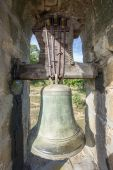 Entire bell on bellfry — Stock Photo