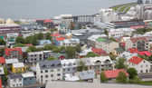 Reykjavik houses aerial view, Iceland — Stock Photo