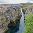 National Park of Thingvellir in Iceland, water and rocks — Stock Photo #63557119