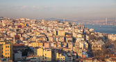European side of Istanbul houses with bosphorus — ストック写真