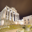 Night view of Temple of Diana in Merida, Spain — Stock Photo #69070975
