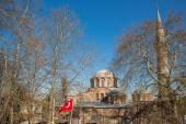 San Salvador de Cora church behind trees, Istanbul — Stock Photo