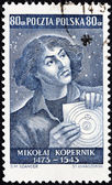 Copernicus Stamp — Stock Photo