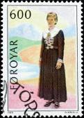 Faeroese woman's dress — Stock Photo