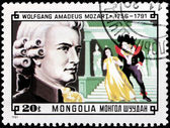 Mozart Stamp — Stock Photo