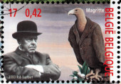 Magritte Stamp — Stock Photo