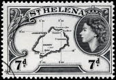 Saint Helena Map — Stock Photo