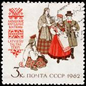 Latvian Folk Dress — Stock Photo