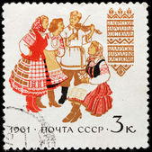 Belorussian Folk Dress — Stock Photo