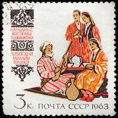 Tajik Folk Dress — Foto de Stock