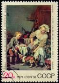 Greuze Stamp — Zdjęcie stockowe
