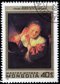 Rembrandt Stamp — Stock Photo