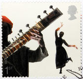 Bollywood Dance Stamp — Stock Photo