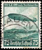 Zeppelin Stamp — Stock Photo