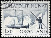Schooner Stamp — Stock Photo
