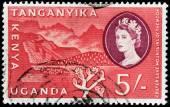 Crater Lake Stamp — Stockfoto
