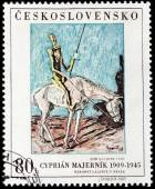 Don Quixote Stamp — Stock Photo