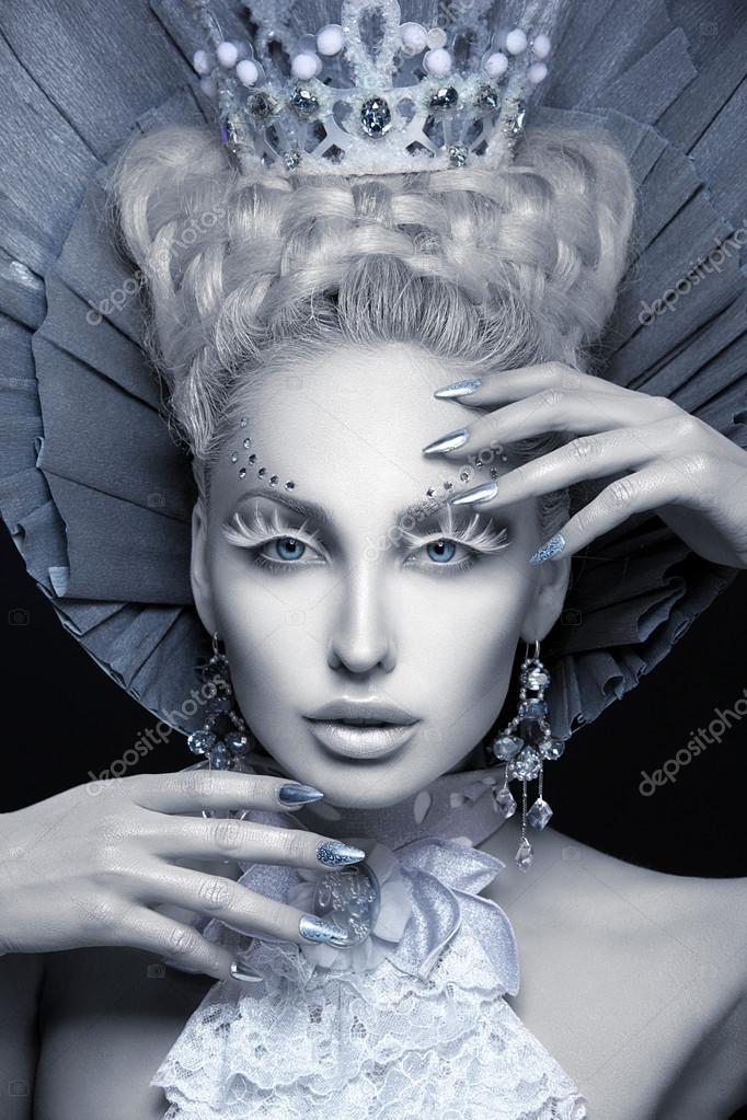 Citaten Winter Queen : 겨울 여왕의 근접 촬영 초상화 — 스톡 사진 svetography