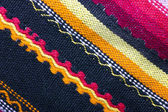 Background texture of colorful woolen knitted pattern — Stock Photo