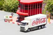 Mini Israel, Israel - April 15, 2015: Miniature  truck Coca Cola Factory in Mini Israel on April 15, 2015 — Stock Photo