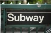 New York Subway Sign — Stock Photo