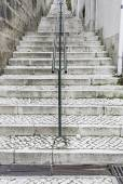 Old stairs in Lisbon — Stock Photo