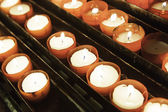 Wax candles lit — Stock Photo
