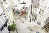 Stairs in Alfama district, Lisbon — Stock Photo