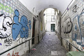 Old alley in Lisbon — Photo