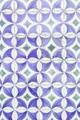 Wall tiles with typical old Lisbon — Stock Photo