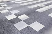 Zebra crossing in the city — Stock Photo