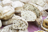 Artisan bread in a market — Stock Photo