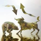 Bull and Bear — Stock Photo