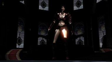 Female Fantasy Warrior — Stock Video