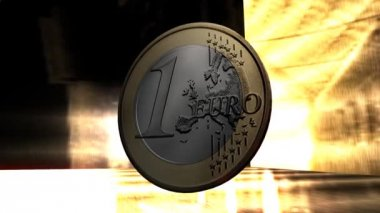 Euro Coin Animation — Stock Video
