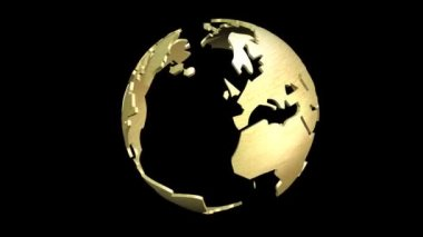 Animation of a rotating Earth Globe — Stock Video