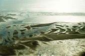 Aerial view from the Schleswig-Holstein Wadden Sea National Park — Stockfoto