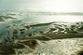 Aerial view from the Schleswig-Holstein Wadden Sea National Park — Stock Photo