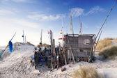 Beach Hut made of Flotsam — Stock Photo