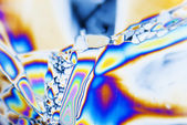 Microcrystals in polarized Light — Stock Photo