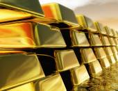 Diugital Illustration of Gold Bullions — Stock Photo