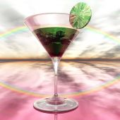 Digital Illustration of a Cocktail Glass — Stock Photo