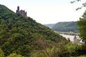 Burg Maus am Rhein — Stock Photo