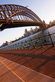 日落时分的海港大桥 — 图库照片