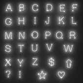 Lights - alphabet — Stock Photo