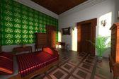Luxury manor interior - bedroom — Foto de Stock