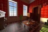Luxury manor interior - living room — Stock Photo